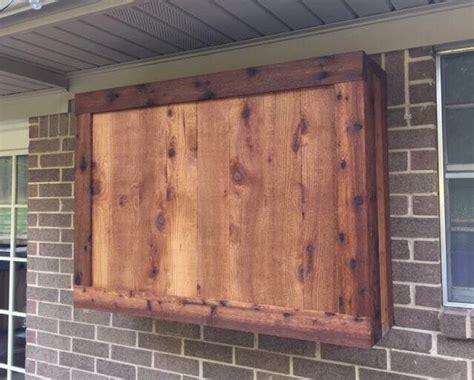outdoor tv cabinet   rough cedar lumber