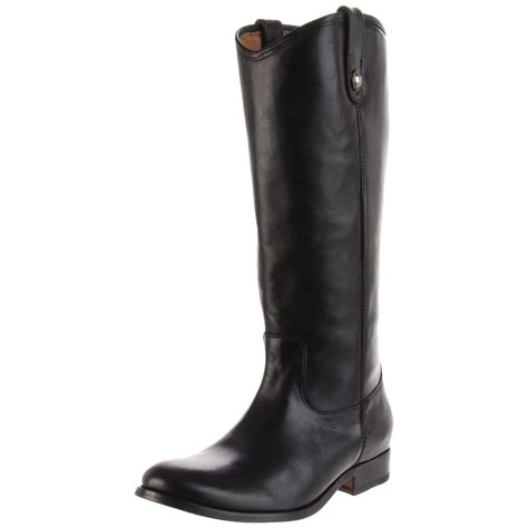 frye womens button knee high boot in black black