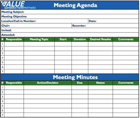 excel notes template to do list microsoft excel meeting minutes