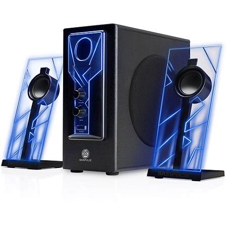 gogroove basspulse glowing blue led computer speaker sound