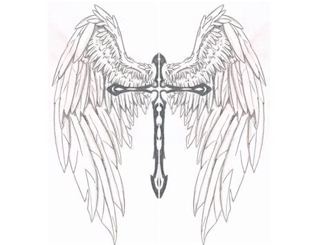 celtic cross with angel wings tattoo image result for cross with wings crosses
