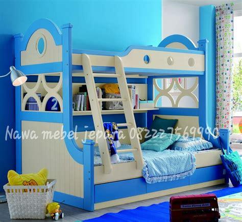 Tempat Tidur Elegan tempat tidur anak tingkat biru elegan jual meja dan