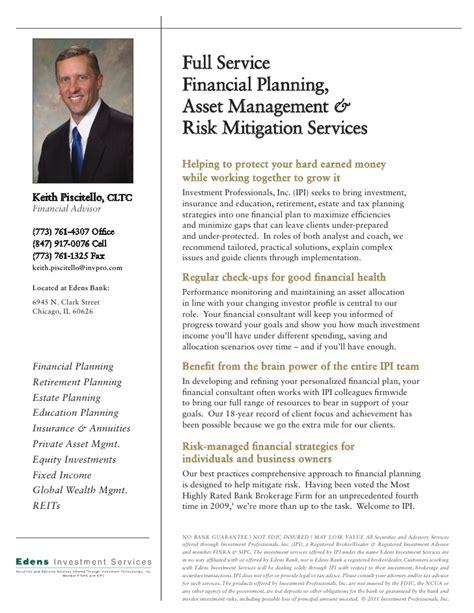 Bio Sheet Template by Financial Advisor Resume 7 Financial Advisor Resumes