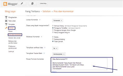 coding html membuat komentar cara membuat kotak pesan komentar di blog informasi penting