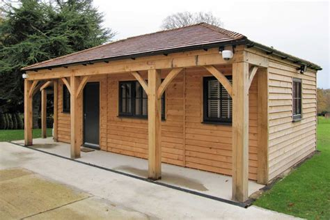 home office with log store ascot timber buildings