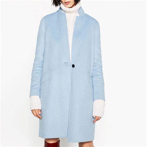 Handmade Coats - 2016 new autumn winter fashion sky blue wool