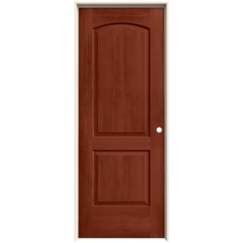 home depot jeld wen interior doors jeld wen 32 in x 80 in continental amaretto stain left solid molded composite mdf