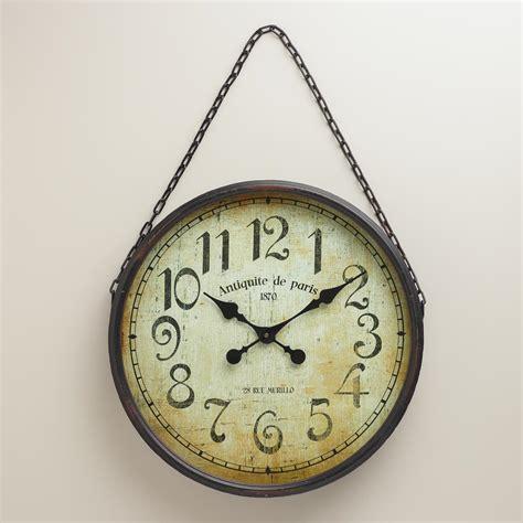 wall clock black chain wall clock world market