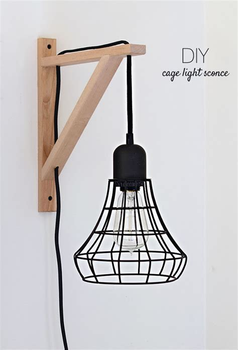 Diy Wall Sconce Light Make It Diy Cage Light Sconce Ikea Hack 187 Curbly Diy Design Decor