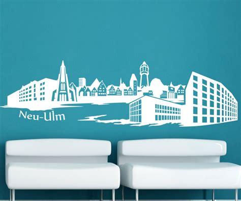 Autoaufkleber Ulm by Wandtattoo Skyline Neu Ulm Wand Aufkleber