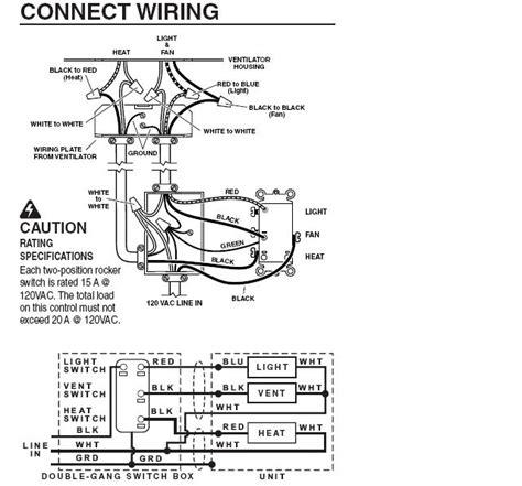 nutone exhaust fan wiring diagram nutone arn70ps1 bathroom fan light wiring diagram