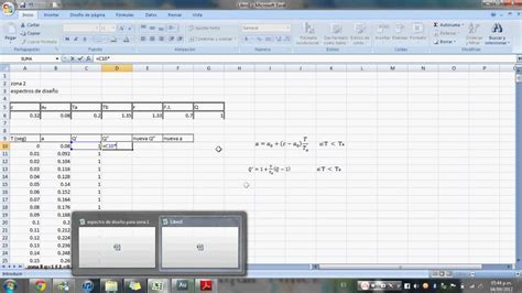 tutorial en excel tutorial espectros de dise 241 o en excel parte 1 youtube