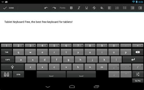 keyboard for android tablet tablet keyboard free for android appszoom