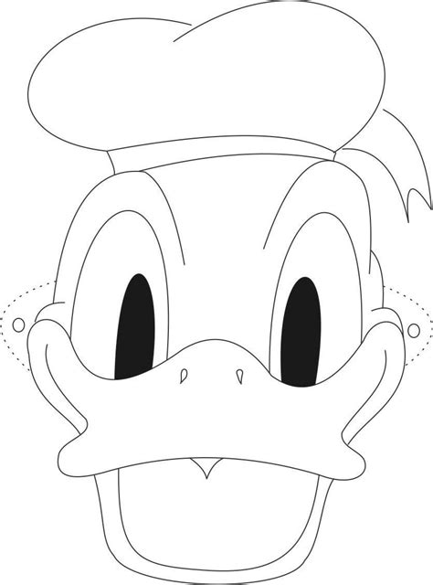 printable mickey mouse mask template donald duck face coloring pages coloring home