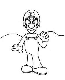 luigi coloring pages mario printables