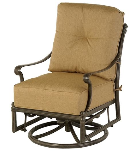 Glider Patio Chair St Augustine By Hanamint Luxury Cast Aluminum Patio Furniture Swivel Glider Club Chair