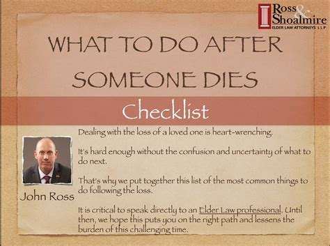what to do when dies what to do after someone dies a checklist