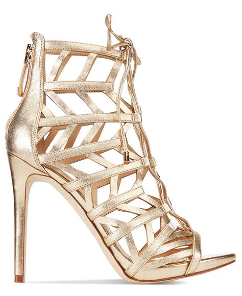 guess gladiator sandals guess s anasia lace up caged gladiator sandals in