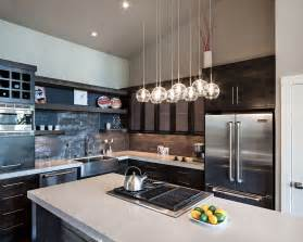 Lights For Island Kitchen Kitchen Island Lighting Modern Home In Eugene Oregon By Iverson Signature Homes