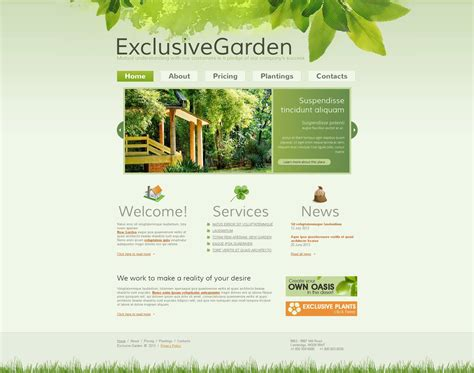 garden layout template garden design moto cms html template 45617