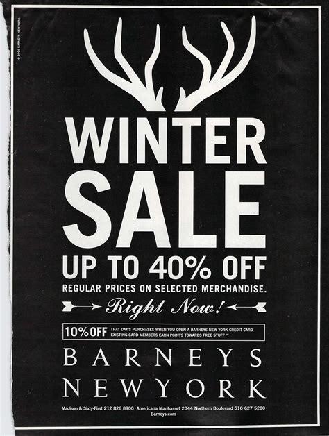 ideas winter sale barneys winter sale barneys sale advertisement