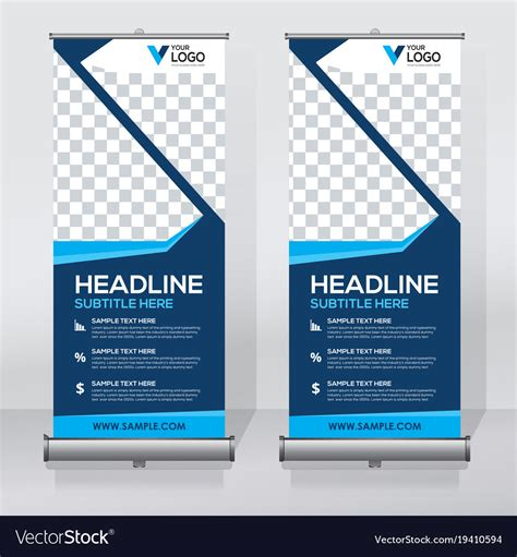 Creative Roll Up Banner Design Template Royalty Free Vector Sign Design Template