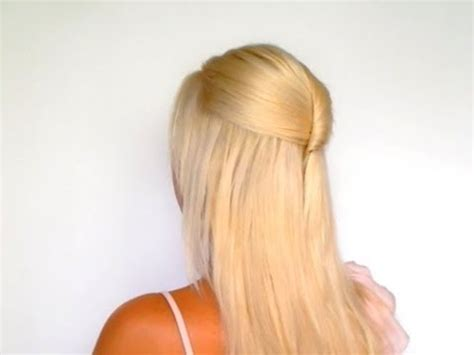 half up half down hairstyles for medium long hair tutorial