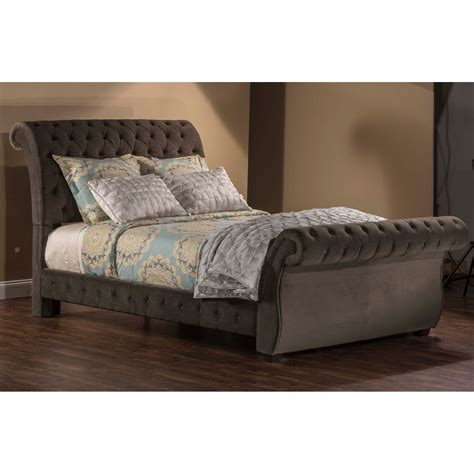 Upholstered Sleigh Bed Hillsdale Bombay Upholstered Sleigh Bed Beds At Hayneedle