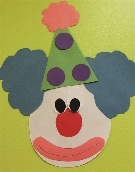 pattern art for preschoolers clown face decoration or craft for preschool craft not