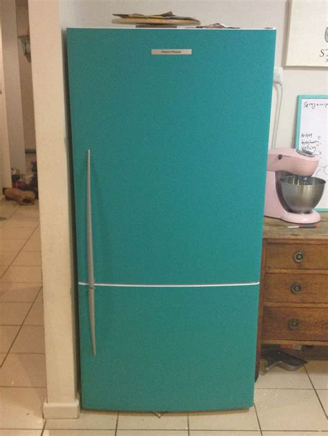 chalk paint teal we painted our fridge in teal chalkboard paint looks