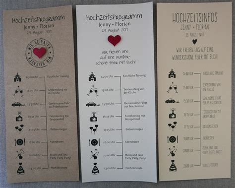Hochzeitseinladung Zeitplan by Hochzeitsprogramm Zeitplan F 252 R Ihre Hochzeitsg 228 Ste