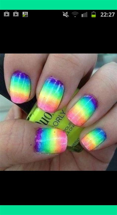 Lv Syar I Rainbow rainbow nails k s photo beautylish