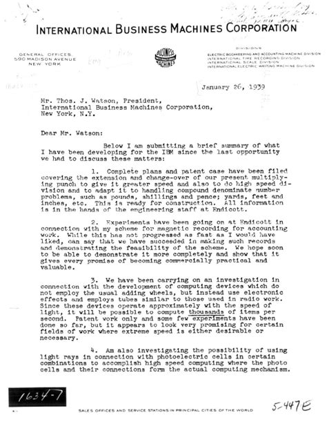 Letter For Research Collaboration Ibm100 Patents And Innovation
