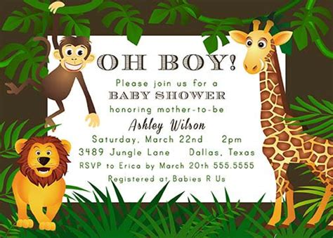 Baby Zoo Animals Baby Shower Decorations by Jungle Theme Baby Shower Ideas For Boys Free Printable
