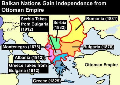 Ottoman Empire Balkans Map Showing How The Balkan Nations Gained Independence From The Ottoman Empire Maps Of