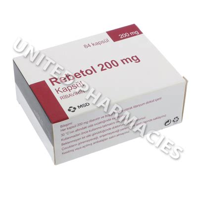 Rebetol Ribavirin 200 Mg Anti Hepatitis Rebetol Ribavirin 200mg 84 Capsules United