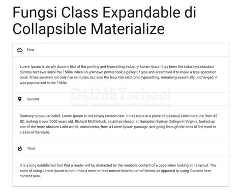 fungsi layout script fungsi class expandable di collapsible materialize