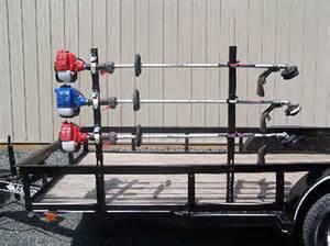 pack em racks open trailer trimmer rack with 4 locks