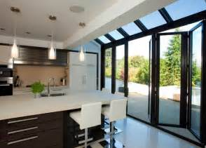 contemporary kitchen extensions modern and contemporary bespoke glass extensions