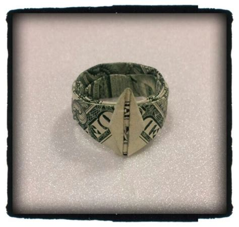 How To Make A Origami Dollar Ring - money origami ring comot