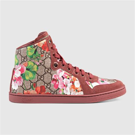 gucci sneakers gg blooms high top sneaker gucci s sneakers