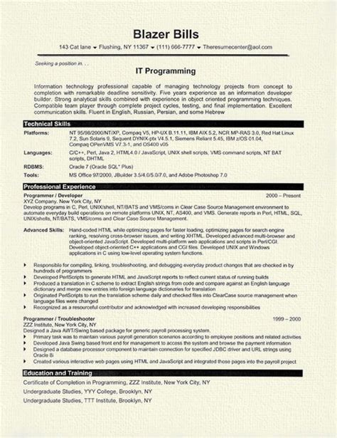 sle financial analyst resume 28 images computer programmer