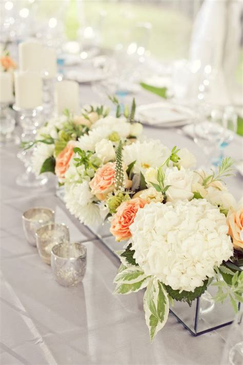 rectangular vases for centerpieces rectangular peony modern wedding centerpiece