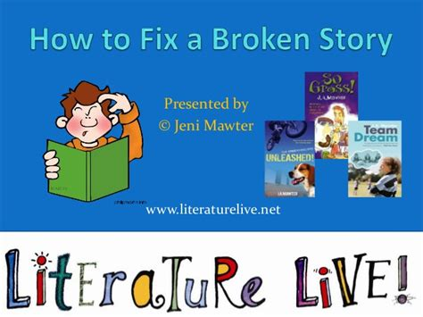 the fixer a story how to fix a broken story