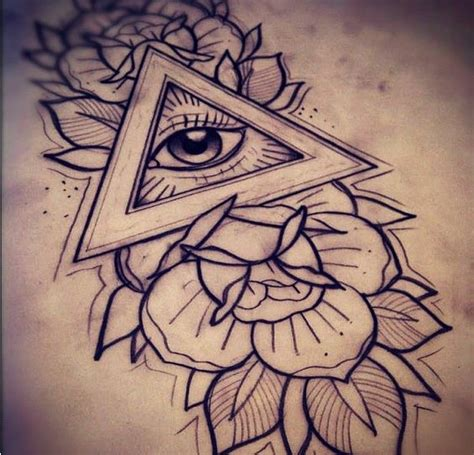 eye tattoo designs tumblr triangle eye all seeing eye and all seeing on pinterest