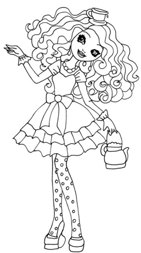 ever after high characters coloring pages to print coloriage madeline hatter ever after high 224 imprimer