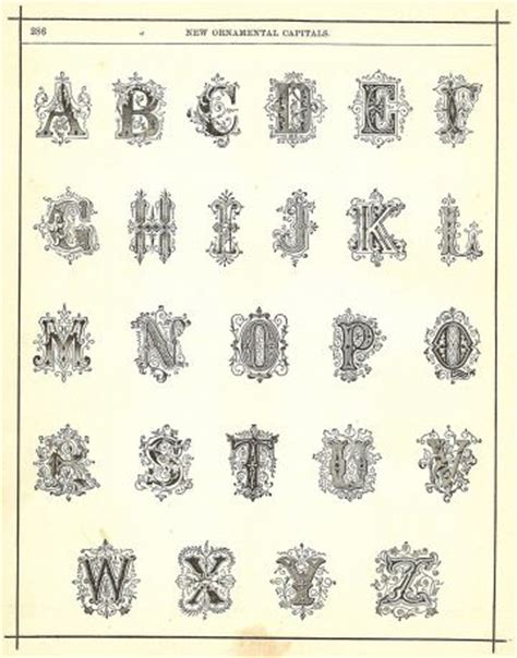 free printable victorian letters 82 best images about victorian alphabet on pinterest