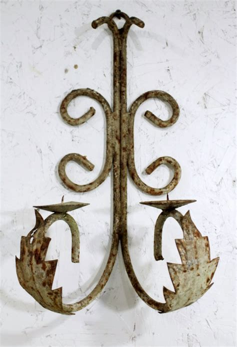 Wrought Iron Candle Sconce by Wrought Iron Candle Sconce Wall Lighting