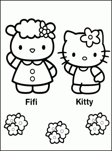 coloring pictures of hello kitty and her friends hello kitty and friends pictures kids coloring
