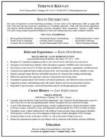truck driver resume exle